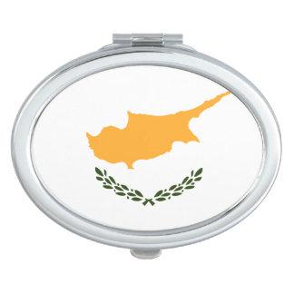 Patriotic Cyprus Flag Mirror For Makeup