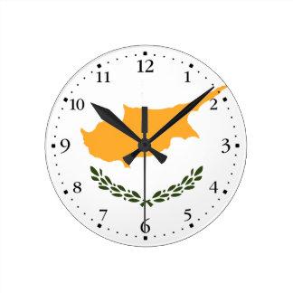 Patriotic Cyprus Flag Round Clock