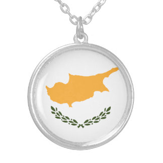 Patriotic Cyprus Flag Silver Plated Necklace