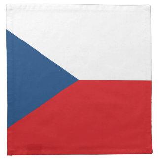 Patriotic Czech Republic Flag Napkin