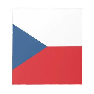 Patriotic Czech Republic Flag Notepad