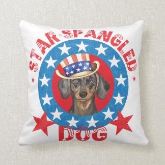 Patriotic Dachshund Cushion