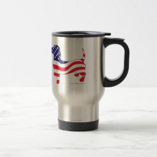 Patriotic Dachshund Travel Mug