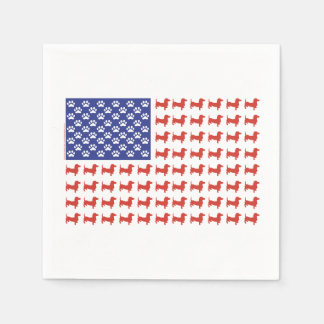 Patriotic Dachshunds Disposable Napkin