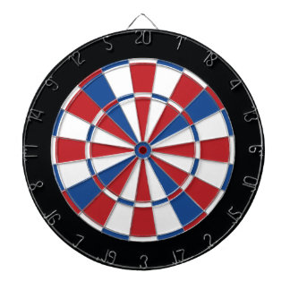 Patriotic Dartboard - Red, White & Blue