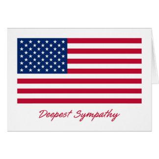 Patriotic Deepest Sympathy Card