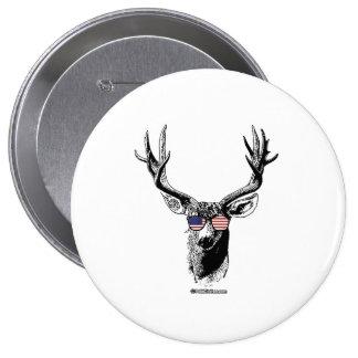 Patriotic Deer 10 Cm Round Badge