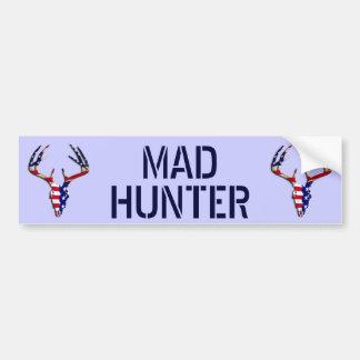Patriotic Deer Hunting skull Car Bumper Sticker