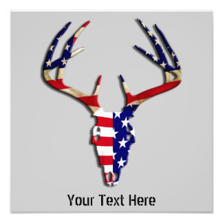 Patriotic Deer Skull Photo