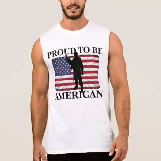 Patriotic Defender of freedom Proud to be American Sleeveless Shirt