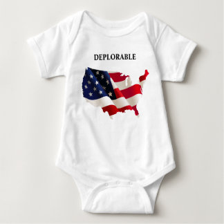 Patriotic Deplorable Baby Jersey Bodysuit