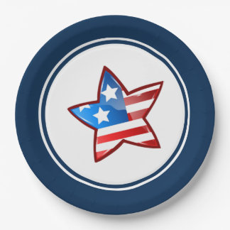 Patriotic Design 4th of July Party Paper Plates