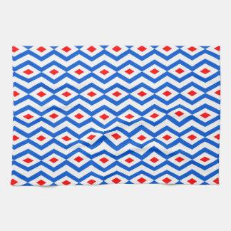 Patriotic Diamond Zigzag Kitchen Towel