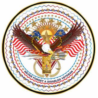 Patriotic Disabled Veteran Lapel Pin Acrylic Cut Outs