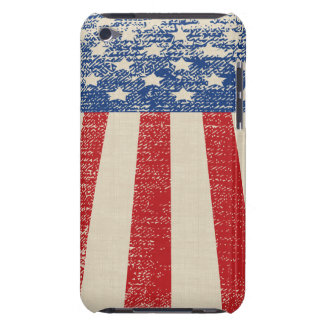 Patriotic Distressed American  Flag Barely There iPod Cases