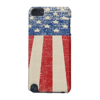 Patriotic Distressed American  Flag iPod Touch 5G Cover