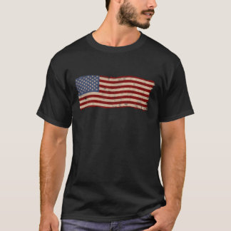 Patriotic Distressed American Flag Vintage T-Shirt