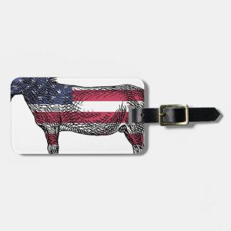 Patriotic Donkey Luggage Tag