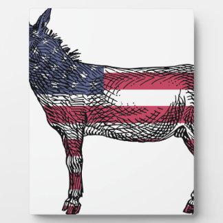 Patriotic Donkey Plaque