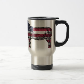 Patriotic Donkey Travel Mug