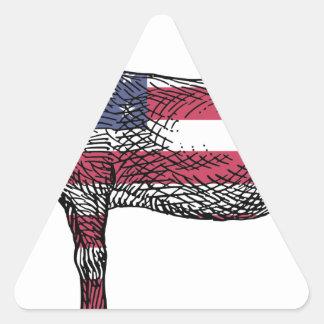 Patriotic Donkey Triangle Sticker