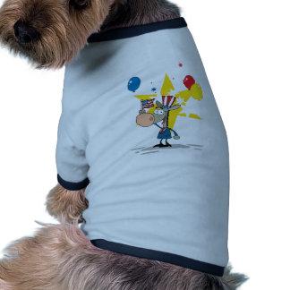 Patriotic Donkey Waving An American Flag Doggie T-shirt