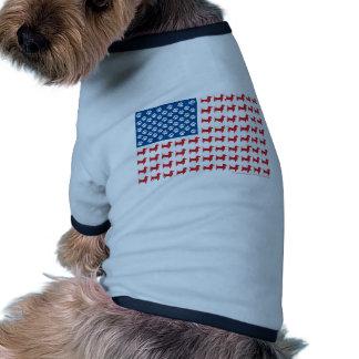 Patriotic Doxie - Dachshund American Flag Dog Clothes