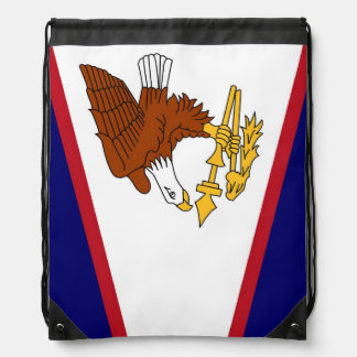 Patriotic drawstring backpack with Flag of Samoa