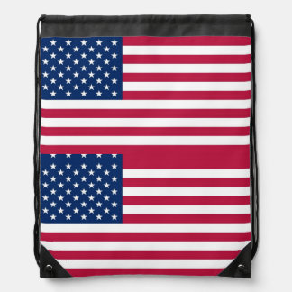 Patriotic drawstring backpack with Flag of USA