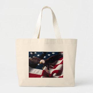Patriotic Eagle American Flag Tote Bags