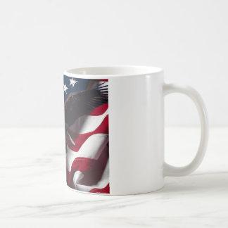 Patriotic Eagle American Flag Coffee Mug