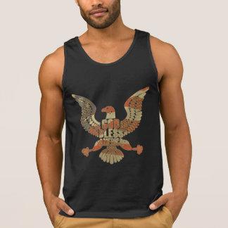 Patriotic Eagle American Flag God Bless America Singlet