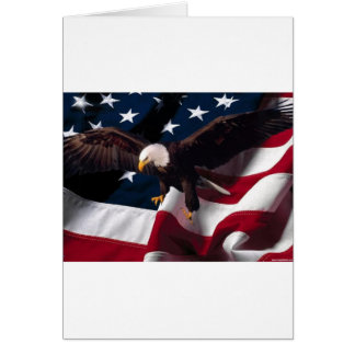 Patriotic Eagle American Flag Greeting Cards