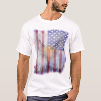 Patriotic Eagle American Flag Men's T-Shirt