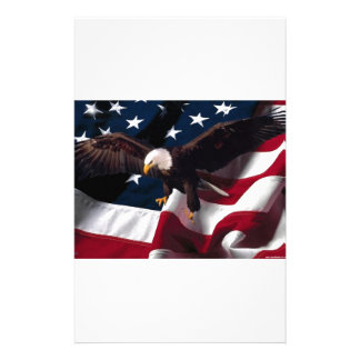 Patriotic Eagle American Flag Customized Stationery