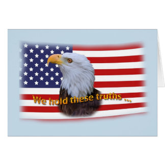 Patriotic  Eagle and USA Flag Card