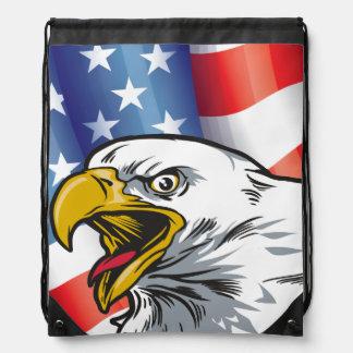 Patriotic Eagle Back Pack Backpack