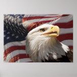 Patriotic Eagle Canvas Print