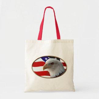 Patriotic Eagle Flag Canvas Bags