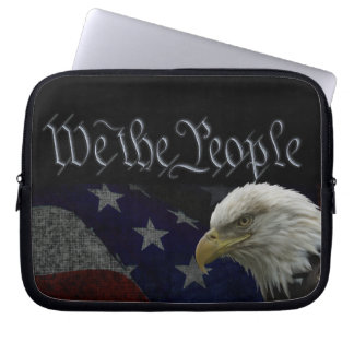 Patriotic Eagle & Flag Laptop Sleeve