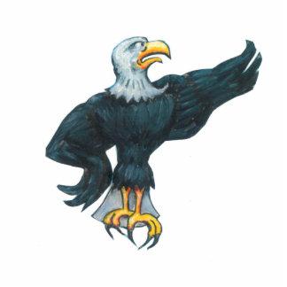 Patriotic Eagle Standing Photo Sculpture