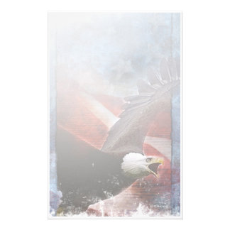 Patriotic Eagle-Stationary Personalized Stationery