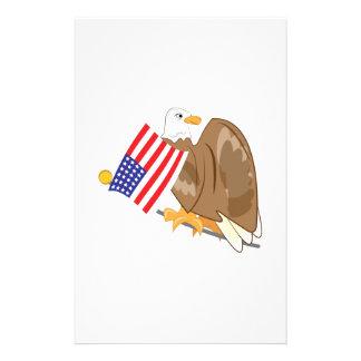 Patriotic Eagle Custom Stationery