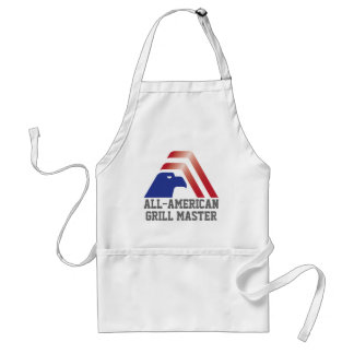 Patriotic Eagle Stripes_All-American Grill Master Adult Apron