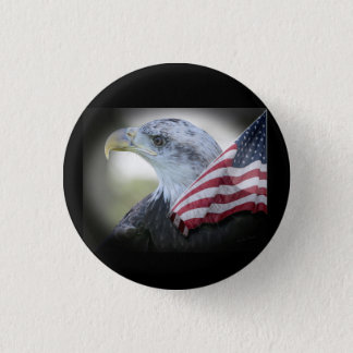 Patriotic Eagle with United States Flag Pin
