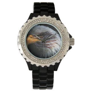 Patriotic eagle wristwatch