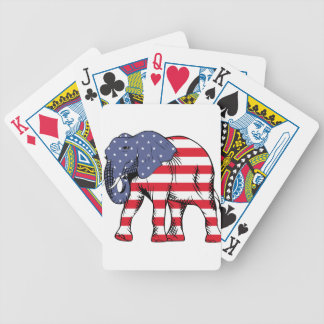 Patriotic Elephant Bicycle Playing Cards