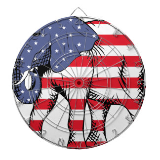 Patriotic Elephant Dartboard