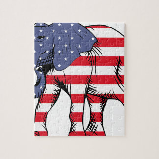 Patriotic Elephant Jigsaw Puzzle