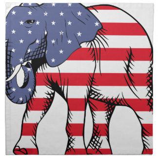 Patriotic Elephant Napkin